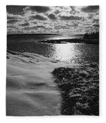 Ship Harbor Winter Fleece Blanket