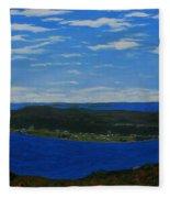 Ship Harbour From Sugarloaf Hill Fleece Blanket