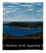 Ship Harbour From Sugarloaf Hill - Historic Town - Atlantic Charter Fleece Blanket