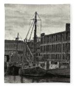 Ship Mooring Vintage Fleece Blanket