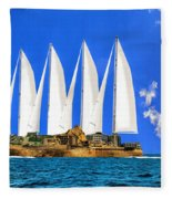Ship Of State Fleece Blanket