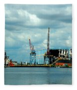 Ship Repair Fleece Blanket