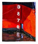 Ship Waterline Numbers Fleece Blanket