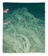 Fish And Motorbikes Fleece Blanket