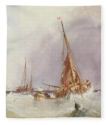Shipping In The Solent 19th Century Fleece Blanket