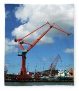 Shipping Industry Crane 07 Fleece Blanket