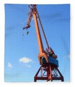Shipping Industry Crane Fleece Blanket