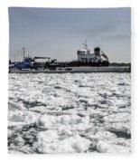 Shipping Season Has Started Fleece Blanket