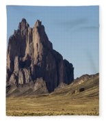 Shiprock Panorama - North West New Mexico Fleece Blanket