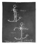 Ship's Anchor Patent Fleece Blanket