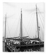 Ships Of Volendram Fleece Blanket