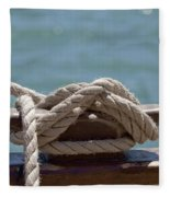 Ships Rigging I Fleece Blanket