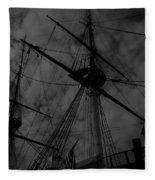Ships Silhouette Fleece Blanket