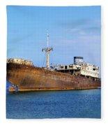 Shipwreck On Lanzarote Fleece Blanket