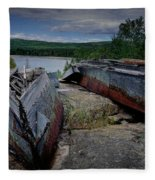 Shipwrecks At Neys Provincial Park No.3 Fleece Blanket