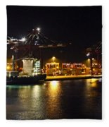Shipyards 2 Callao Port Lima Peru Fleece Blanket
