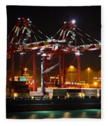 Shipyards  Callao Port Lima Peru Fleece Blanket