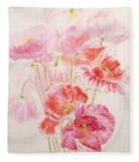 Shirley Poppies Fleece Blanket