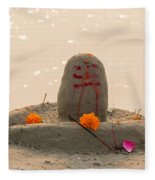 Shivling From Sand Fleece Blanket