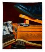 Shoe - Time For A Shine Fleece Blanket