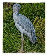 Shoebill Stork Fleece Blanket