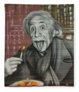 Shop Window Metal Blind Einstein Fleece Blanket