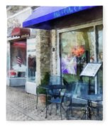Shopfront - Music And Coffee Cafe Fleece Blanket