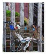 Shopping Cart Fleece Blanket