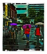 Shopping In The Rain - Knoxville Fleece Blanket