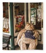 Shopping's A Bear Fleece Blanket