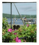 Shore Scene Fleece Blanket
