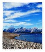 Shoreline Blues Fleece Blanket