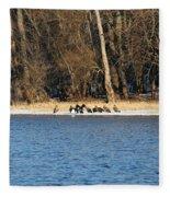 Shoreline Meeting Fleece Blanket