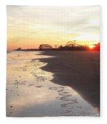 Shoreline Sunset Fleece Blanket