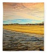 Shores Of Lake Michigan Fleece Blanket