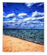 Shores Of Lake Superior Fleece Blanket