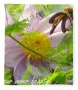 Show Your Inner Beauty Fleece Blanket