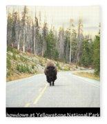 Showdown At Yellowstone Fleece Blanket