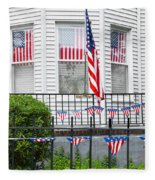 Showing The Flag Usa Fleece Blanket