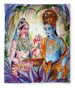 Shree Sita Ram Fleece Blanket