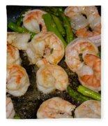 Shrimp And Asparagus Fleece Blanket
