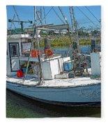 Shrimp Boat - Southern Catch Fleece Blanket