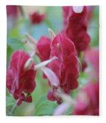 Shrimp Plant Fleece Blanket