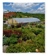 Shrubbery At A Greenhouse Fleece Blanket