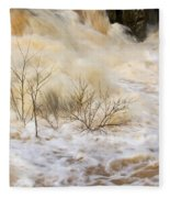 Shrubs In The Rapids #2 Fleece Blanket