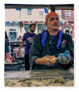 Shucking Oysters In The French Quarter Fleece Blanket