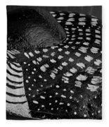 Shy Loon - Painted Rock - Seabird - One Of A Kind Fleece Blanket