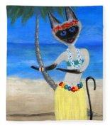 Siamese Queen Of Hawaii Fleece Blanket