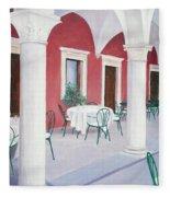 Sibenik Cafe Croatia Fleece Blanket