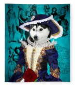 Siberian Husky Art Canvas Print - Baroness Fleece Blanket